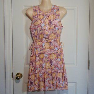 LOFT Creamsicle Floral Dress Small